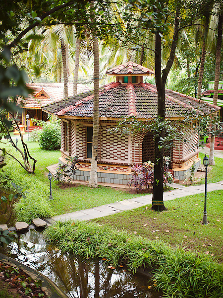 Villa 306, Kairali Ayurvedic Health Resort, Palakkad, Kerala, India. The architecture and placement of each free-standing villa is meant to mimic a traditional South Indian village.