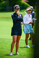 Belen Mozo (ESP) eats a banana while waiting to hit on 16 during Thursday's round 1 of the 2017 KPMG Women's PGA Championship, at Olympia Fields Country Club, Olympia Fields, Illinois. 6/29/2017.<br /> Picture: Golffile | Ken Murray<br /> <br /> <br /> All photo usage must carry mandatory copyright credit (&copy; Golffile | Ken Murray)