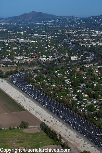 aerial photograph 405 freeway, Los Angeles, California