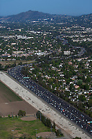 aerial photograph 405 freeway, Los Angeles, California