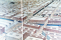 Burnham Plan:  Chicago--Painting by Jules Guerin.  Proposed 12th St. Boulevard--Michigan & Ashland (& Central Station).