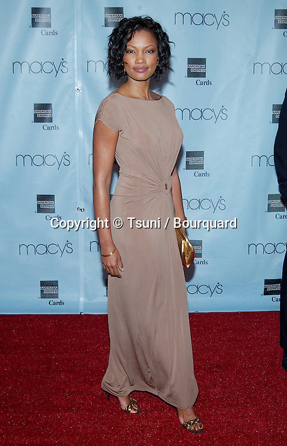Garcelle Beauvais arriving at the 20th Macy's and American Express Anniversary Gala at the Barker Hangar in Santa Monica Los Angeles. September 28, 2002.