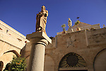 Bethlehem, statue of St. Jerome in front of the Church of St. Catherine