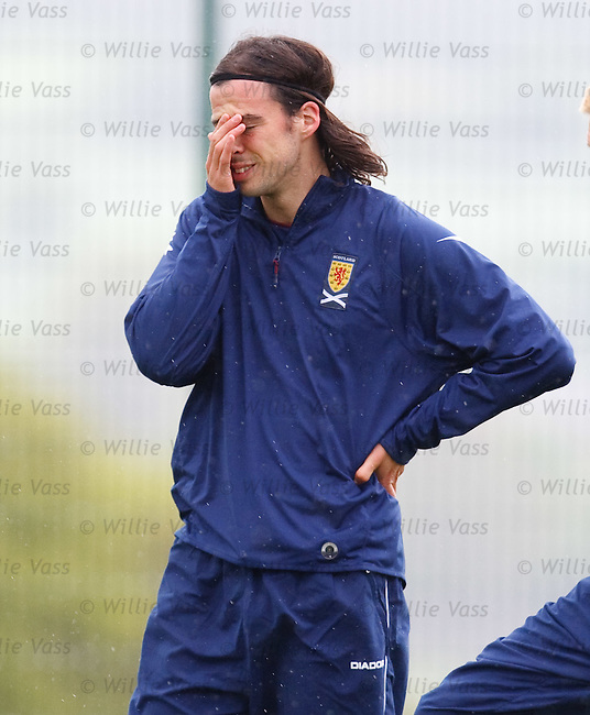 George Boyd enjoying his first Scotland training session