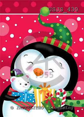 Janet, CHRISTMAS ANIMALS, paintings+++++,USJS430,#xa# Weihnachten, Navidad, illustrations, pinturas