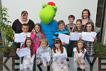 Winners of the Kerry county library writing competition pictured at the Library on Saturday Front from left Elaina Norris, Firies NS, Cathal O? Grifi?n, Scoil Naomh Eric, Baile An Mhuraigh, Baile Na nGall, O?rlaith Reynolds, Scoil Mhuire, Killorglin, and Kathleen O'Sullivan, Scoil Mhuire agus Naomh Treasa, Currow.Back row from left:  Pa?draig McCannon, St. Mary's, Moyderwell, Tralee, Mairead Costello, Co. Library, Clodagh Curran, Ballyhearney N.S., Valentia Island, Toby, Donagh McElligott, Dromclough N.S., Listowel,.Maria Doyle Co. Library,  Makayla Donovan, Muire Gan Smal, Castleisland, Niamh Doyle Co. Library and Alannah McElligott, Scoil Eoin, Balloonagh, Tralee.