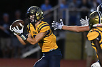 Althoff's Nick Alberico pulls in a pass and heads for the end zone for a touchdown. Mater Dei played football at Althoff on Friday September 13, 2019. <br /> Tim Vizer/Special to STLhighschoolsports.com