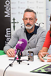 Singer of the music group La Union, Mario Martinez, during the presentation of a charity concert in support of cancer research at New Apolo Theater in Madrid, November 04, 2015<br /> (ALTERPHOTOS/BorjaB.Hojas)