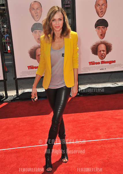 "Vanessa Angel at the world premiere of ""The Three Stooges"" at Grauman's Chinese Theatre, Hollywood..April 7, 2012  Los Angeles, CA.Picture: Paul Smith / Featureflash"