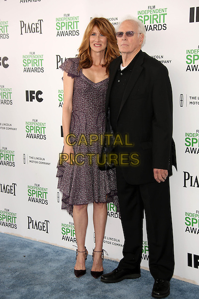 SANTA MONICA, CA - March 01: Laura Dern, Bruce Dern at the 2014 Film Independent Spirit Awards Arrivals, Santa Monica Beach, Santa Monica,  March 01, 2014. Credit: Janice Ogata/MediaPunch<br /> CAP/MPI/JO<br /> &copy;JO/MPI/Capital Pictures