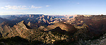 Panorama of the Grand Canyon in Arizona, United States of America.