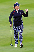 Morgan Pressel (USA) on the 1st fairway during Day 3 Singles at the Solheim Cup 2019, Gleneagles Golf CLub, Auchterarder, Perthshire, Scotland. 15/09/2019.<br /> Picture Thos Caffrey / Golffile.ie<br /> <br /> All photo usage must carry mandatory copyright credit (© Golffile | Thos Caffrey)