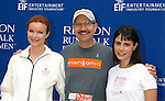 LOS ANGELES, CA. - May 09: Marcia Cross, Dr. Robb Akridge and Jordana Brewster arrive at the 16th Annual EIF Revlon Run/Walk For Women at the Los Angeles Memorial Coliseum on May 9, 2009 in Los Angeles, California.