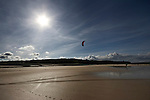 Kiteboarding at Gwithian, West Cornwall