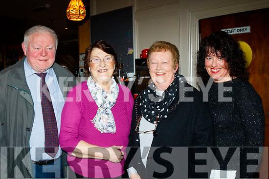 L-R Tim&Tima O'Shea with Marie&Siobhan McCrohan at the Sharon Shannon concert at O'Riada's, Ballymac, last Saturday night.
