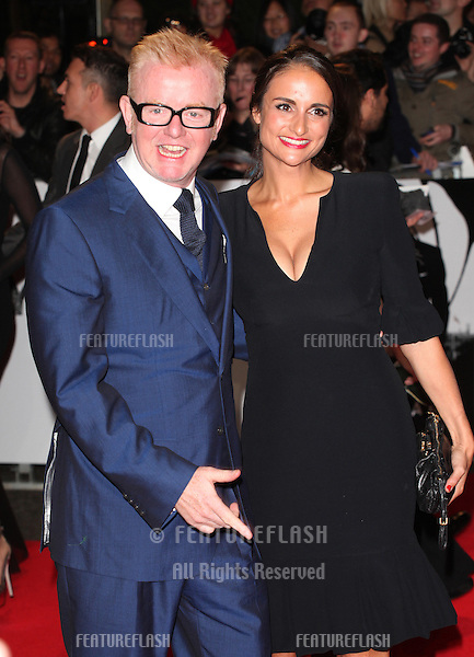 Chris Evans and wife Natasha arriving for the Royal World Premiere of 'Skyfall' at Royal Albert Hall, London. 23/10/2012 Picture by: Alexandra Glen / Featureflash