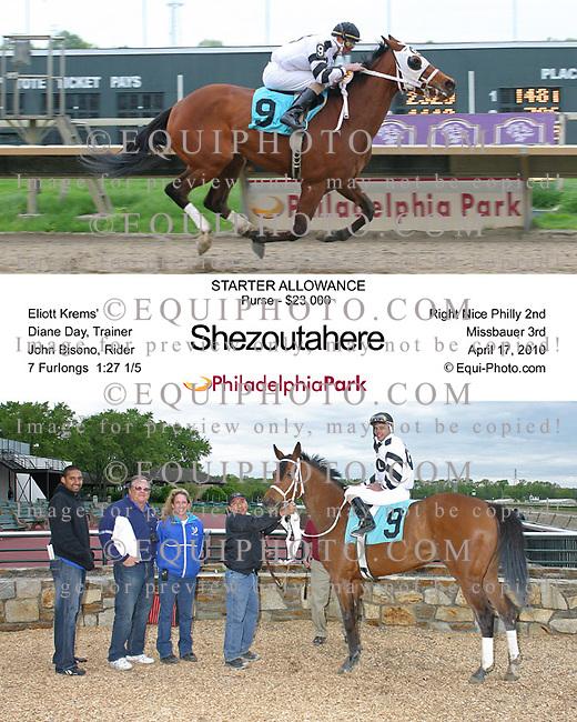 Winning photos at Philadelphia Park Racetrack.