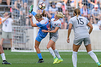Bridgeview, IL - Sunday September 03, 2017: Alyssa Mautz, Denise O'Sullivan during a regular season National Women's Soccer League (NWSL) match between the Chicago Red Stars and the North Carolina Courage at Toyota Park. The Red Stars won 2-1.