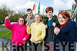 Coláiste Gleann Lí Leaving Certificate students pictured on Wednesday morning last, l-r: Rachel Dunne (Tralee), Luke Stack (Abbeydorney), Maeve O'Sullivan (Ballymac), Ethan Byrne (Tralee) and Ellie Foley (Tralee).
