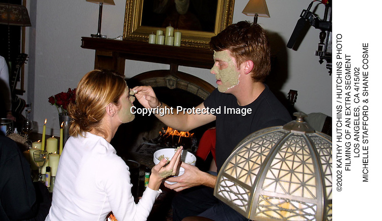 ©2002 KATHY HUTCHINS / HUTCHINS PHOTO.FILMING OF AN EXTRA SEGMENT.LOS ANGELES, CA 4/15/02.MICHELLE STAFFORD & SHANE COSME