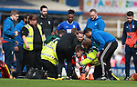 David Brooks of Sheffield Utd dazed during the championship match at St Andrews Stadium, Birmingham. Picture date 21st April 2018. Picture credit should read: Simon Bellis/Sportimage