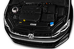 Car stock 2017 Volkswagen Golf GTD 5 Door Hatchback engine high angle detail view