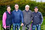 Karen White, Michael O'Shea, John Kerins and Patrick White attending the Siobhan Cotter Memorial underage Blitz in Churchill on Sunday.
