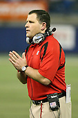 January 5th, 2008:  Rutgers head coach Greg Schiano pleads his case with the officials after a passing interference call during the third quarter of the International Bowl at the Rogers Centre in Toronto, Ontario Canada...Rutgers defeated Ball State 52-30.  ..Photo By:  Mike Janes Photography