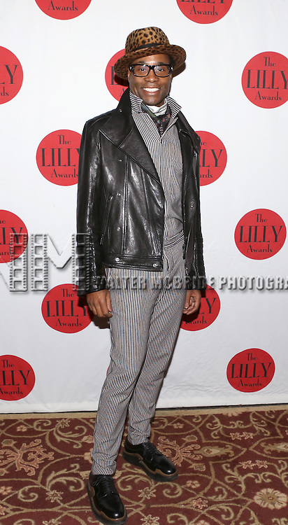 Billy Porter backstage at The Lilly Awards Broadway Cabaret'   at The Cutting Room on November 9, 2015 in New York City.