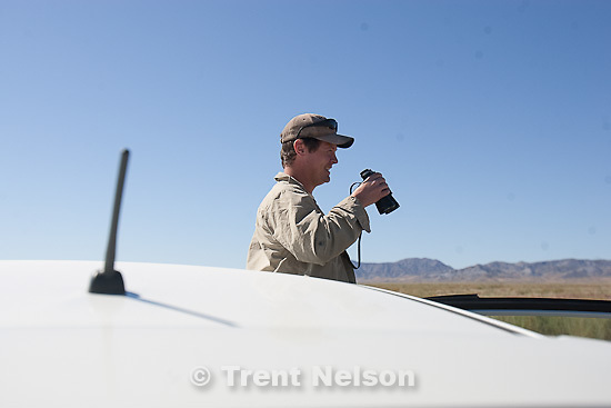 Trent Nelson  |  The Salt Lake Tribune.Nate Carlisle during search for Susan Powell at Topaz Mountain, Utah, Wednesday, September 21, 2011.
