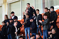 Fleetwood Town fans show their support<br /> <br /> Photographer Richard Martin-Roberts/CameraSport<br /> <br /> The EFL Sky Bet League One - Blackpool v Fleetwood Town - Saturday 14th April 2018 - Bloomfield Road - Blackpool<br /> <br /> World Copyright &not;&copy; 2018 CameraSport. All rights reserved. 43 Linden Ave. Countesthorpe. Leicester. England. LE8 5PG - Tel: +44 (0) 116 277 4147 - admin@camerasport.com - www.camerasport.com