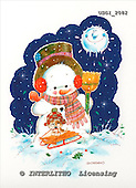 GIORDANO, CHRISTMAS SANTA, SNOWMAN, WEIHNACHTSMÄNNER, SCHNEEMÄNNER, PAPÁ NOEL, MUÑECOS DE NIEVE, paintings+++++,USGI2082,#X#