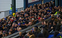 Oldham Athletic fans watch their team in action during the Sky Bet League 1 match between Oldham Athletic and Rochdale at Boundary Park, Oldham, England on 18 November 2017. Photo by Juel Miah/PRiME Media Images