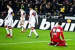 09.03.2019, Signal Iduna Park, Dortmund, GER, 1.FBL, Borussia Dortmund vs VfB Stuttgart, DFL REGULATIONS PROHIBIT ANY USE OF PHOTOGRAPHS AS IMAGE SEQUENCES AND/OR QUASI-VIDEO<br /> <br /> im Bild   picture shows:<br /> entt&auml;uschte Suttgarter nach dem dritten Gegentreffer, <br /> <br /> Foto &copy; nordphoto / Rauch