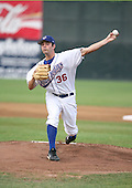 2007:  Mark Rzepczynski of the Auburn Doubledays delivers a pitch vs. the Williamsport Crosscutters in New York-Penn League baseball action.  Photo copyright Mike Janes Photography 2007.