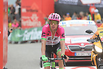 Rigoberto Uran (COL) EF-Drapac-Cannondale crosses the finish line in 5th place at the end of Stage 20 of the La Vuelta 2018, running 97.3km from Andorra Escaldes-Engordany to Coll de la Gallina, Spain. 15th September 2018.                   <br /> Picture: Colin Flockton | Cyclefile<br /> <br /> <br /> All photos usage must carry mandatory copyright credit (© Cyclefile | Colin Flockton)