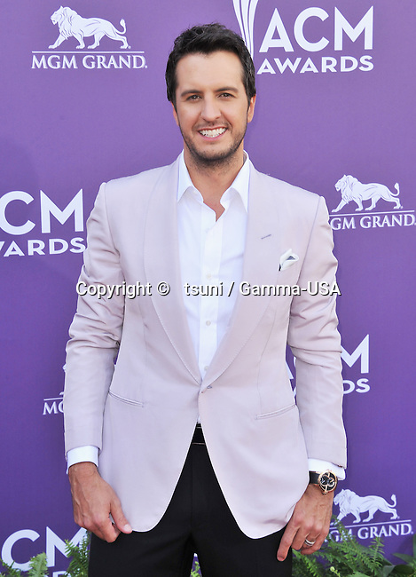 Luke Bryan 234 at the Country Music Awards 2013 at the MGM Grand Arena in Las Vegas.