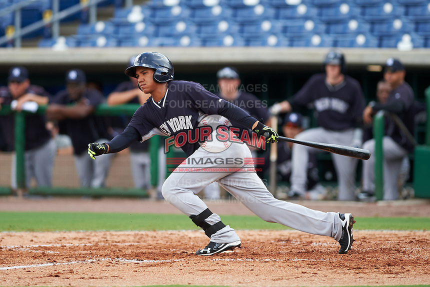 New York Yankees Thairo Estrada (70) during an instructional league game against the Philadelphia Phillies on September 29, 2015 at Brighthouse Field in Clearwater, Florida.  (Mike Janes/Four Seam Images)