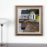 "Lawson: Pleasant Harbor Gut , Digital Print, Image Dims. 20"" x 17.5"", Framed Dims. 26"" x 24"""