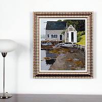 "Lawson: Pleasant Harbor Gut , Digital Print, Image Dims. 20"" x 17.5"", Framed Dims. 26"" x 24"""