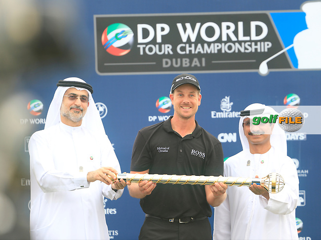 Henrik STENSON (SWE) during round 4 of the DP World, Tour Championship, Dubai, UAE.<br /> Picture: Denise Cleary www.golffile.ie