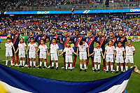 Harrison, NJ - Friday July 07, 2017: Costa Rica Starting Eleven during a 2017 CONCACAF Gold Cup Group A match between the men's national teams of Honduras (HON) vs Costa Rica (CRC) at Red Bull Arena.