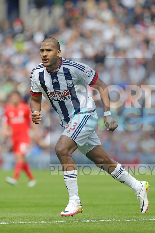 Salomon Rondon of West Bromwich Albion in action during the Barclays Premier League match at The Hawthorns.  Photo credit should read: Malcolm Couzens/Sportimage