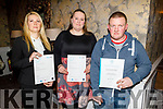 Aneta Potocka, Bethan Taylor and James O'Callaghan from Tralee, receiving their Certificates at the Presentation of Certificate Ceremony by the Kerry College, Monavalley Campus in the Rose Hotel on Thursday night.