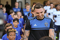 SAN JOSE, CA - AUGUST 24: Guram Kashia #37 of the San Jose Earthquakes prior to a Major League Soccer (MLS) match between the San Jose Earthquakes and the Vancouver Whitecaps FC  on August 24, 2019 at Avaya Stadium in San Jose, California.