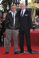 Bruce Dern & director Joe Dante (left) on Hollywood Boulevard where, together with his ex-wife Diane Ladd and daughter Laura Dern, each were honored with a star on the Hollywood Walk of Fame. This was the first time in history that three stars from the same Hollywood family dynasty of actors was honored at the same time..The Hollywood Walk of Fame is celebrating its 50th anniversary this month..November 1, 2010  Los Angeles, CA.Picture: Paul Smith / Featureflash