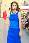 Daria walks runway in a Douglas Hannant Resort 2012 outfit, on the USS Intrepid, June 7, 2011.