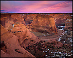 Canyon de Chelly, Sunset<br /> Canyon de Chelly National Monument, Arizona