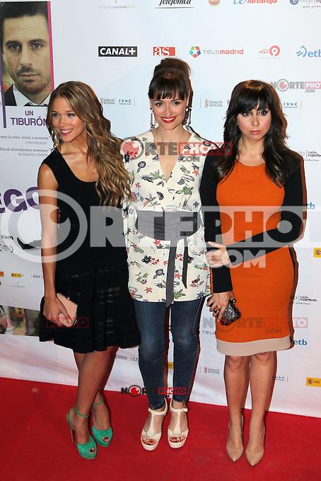 Patricia Montero, Laura Pamplona, Carmen Ruiz - Premiere En Fuera De Juego - photocall in Madrid