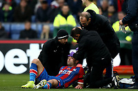 3rd November 2019; Selhurst Park, London, England; English Premier League Football, Crystal Palace versus Leicester City; Gary Cahill of Crystal Palace is treated for a head injury - Strictly Editorial Use Only. No use with unauthorized audio, video, data, fixture lists, club/league logos or 'live' services. Online in-match use limited to 120 images, no video emulation. No use in betting, games or single club/league/player publications